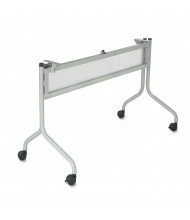 "Safco 2030SL Impromptu Mobile Silver Base for 48"" W Flip-Top Training Table"