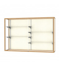 "Waddell Champion 2040-6 Series Wall Mountable Display Case 72""W x 48""H x 16""D (Shown in plaque back/champagne gold)"