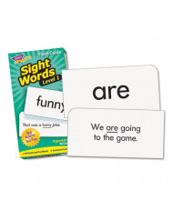 """Trend Sight Words Set 1 Skill Drill Flash Cards, 3-3/8"""" x 6-1/4"""", 96/Pack"""