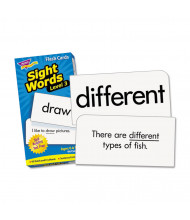 """Trend Sight Words Set 3 Skill Drill Flash Cards, 3-3/8"""" x 6-1/4"""", 98/Pack"""