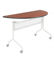"""Safco Impromptu 2068 48"""" W x 24"""" D Half-Round Training Table Top (Shown in Cherry, Base Sold Separately)"""