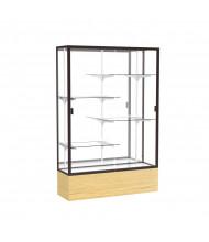 "Waddell Reliant 2074 Series Floor Display Case 48""W x 72""H x 16""D (Shown in Light Oak/Mirror/Dark Bronze)"