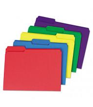 Universal One Heavyweight 1/3 Cut Tab Letter File Folder, Red, 100/Box