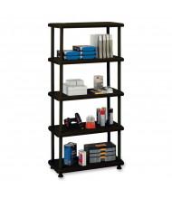Iceberg 5-Shelf Open Storage Heavy-Duty Shelving (Shown in Black)