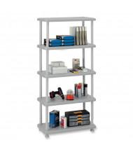 Iceberg 4-Shelf Open Storage Light-Duty Shelving (Shown in Platinum)