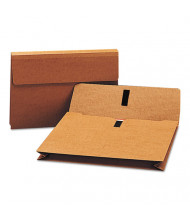 """Smead Legal 2"""" Expanding Wallet with Velcro Closure, Redrope"""