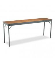 "Barricks CL1872WA 72"" W x 18"" D Rectangular Laminate Folding Table"