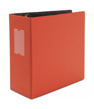 "Universal One 5"" Capacity 8-1/2"" x 11"" Straight Ring Non-View Binder, Red"