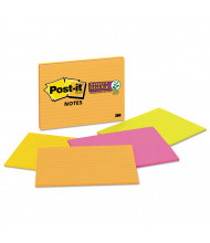 """Post-It 8"""" X 6"""", 4 45-Sheet Pads, Lined Rio de Janeiro Color Super Sticky Meeting Notes"""