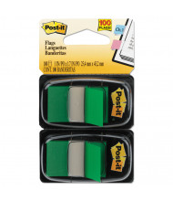 """Post-It 1"""" x 1-3/4"""" Marking Flags, Green, 100 Flags/Pack"""