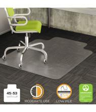 "deflect-o DuraMat Low Pile Carpet 45"" W x 53"" L with Lip, Beveled Edge Chair Mat CM13233"