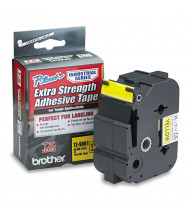 """Brother P-Touch TZES661 TZe Series 1-1/2"""" x 26.2 ft. Labeling Tape, Black on Yellow"""