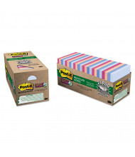 """Post-It 3"""" X 3"""", 24 70-Sheet Pads, Bali Color Super Sticky Notes"""
