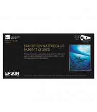 """Epson Exhibition 17"""" X 50 Ft., 22 mil, Textured Matte Watercolor Paper Roll"""