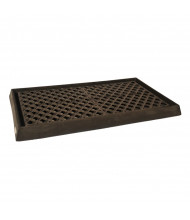 "Ultratech 2350 54"" W x 29.75"" L Containment Tray with Grating, 14 Gallons, Black"