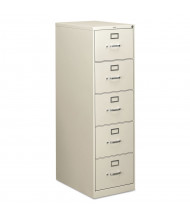 """HON 5-Drawer 26.5"""" Deep Vertical File Cabinet, Legal Size (Shown in Light Grey)"""