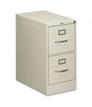 "HON 2-Drawer 25"" Deep Vertical File Cabinet, Letter Size (Shown in Light Grey)"
