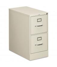 "HON 2-Drawer 26.5"" Deep Vertical File Cabinet, Letter Size (Shown in Light Grey)"