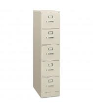 "HON 5-Drawer 26.5"" Deep Vertical File Cabinet, Letter Size (Shown in Light Grey)"