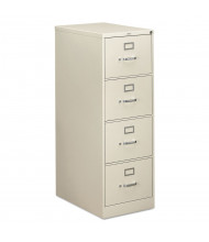 """HON 4-Drawer 26.5"""" Deep Vertical File Cabinet, Legal Size (Shown in Light Grey)"""