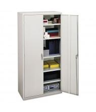 "HON Brigade SC1872Q 36"" W x 18"" D x 72"" H Storage Cabinet in Light Grey, Assembled"