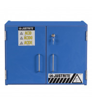 Just-Rite 24120 Wood Laminate Countertop Two Door Corrosives Acids Safety Cabinet, six 2-1/2 Liter Bottles, Blue