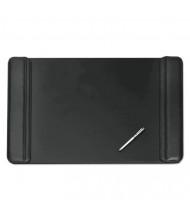 "Artistic 20"" x 36"" Sagamore Desk Pad with Flip-Open Side Panels, Black"
