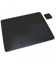 "Artistic 24"" x 19"" Leather Desk Pad, Black"