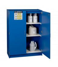Just-Rite 24150 Wood Laminate Two Door Corrosives Acids Safety Cabinet, Forty-Nine 2-1/2 Liter Bottles, Blue