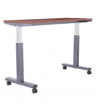 """Office Star 60"""" W x 24"""" D Pneumatic 30.25"""" - 43.25"""" Height Adjustable Table (Shown in Cherry)"""