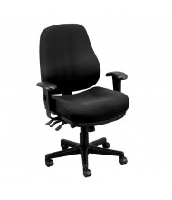 Eurotech 24/7 24-Hour Fabric Mid-Back High-Performance Task Chair (Shown in Black)