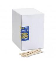 "Chenille Kraft 4-1/2"" x 3/8"" Natural Economy Grade Wood Craft Sticks, 1000/Box"
