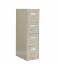 """Global 25-400 4-Drawer 25"""" Deep Vertical File Cabinet, Letter (Shown in Desert Putty)"""