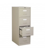 """Global 25-450 4-Drawer 25"""" Deep Vertical File Cabinet, Legal (Shown in Desert Putty)"""