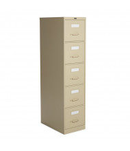 """Global 25-500 5-Drawer 25"""" Deep Vertical File Cabinet, Letter (Shown in Desert Putty without Lock)"""