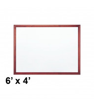 Quartet 2547M Premium DuraMax 6 ft. x 4 ft. Mahogany Frame Porcelain Magnetic Whiteboard