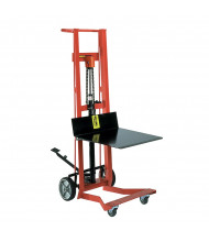Wesco Four Wheel 750 lb Load Hydraulic Foot-Operated Platform Lift Truck