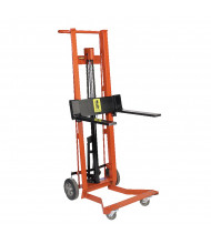 Wesco 4-Wheel 750 lb Load Hydraulic Pedalift Fork Stacker