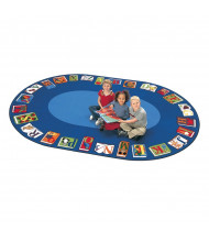 Carpets for Kids Reading by the Book Oval Classroom Rug