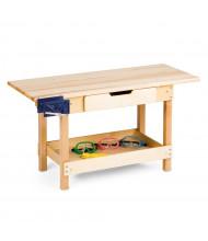 "Jonti-Craft 46"" W x 19"" D Maple Preschool Workbench Table (Goggles Not Included)"