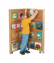 Jonti-Craft 2-Section Mobile Library Classroom Bookcase (example of use)