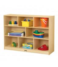 "Jonti-Craft Super-Sized Single 15"" Deep Mobile Classroom Storage Unit (example of use)"