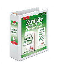 "Cardinal 3"" Capacity 8-1/2"" x 11"" Slant-D Ring XtraLife View Binder, White"