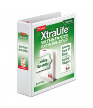 "Cardinal 2"" Capacity 8-1/2"" x 11"" Slant-D Ring XtraLife View Binder, White"