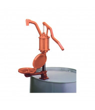 """Wesco 272210 14"""" L Cast Iron Steel Lever Drum Pump with Drip Pan"""