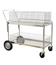 """Wesco 250 lb Load 36"""" x 17.25"""" Wire Office Cart 272231"""