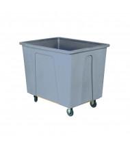 """Wesco 12 Bushel 96 Gallon 5"""" Casters Plastic Box Trucks, 550 lb Load (Grey)"""