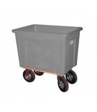 """Wesco 16 Bushel 128 Gallon 8"""" Casters Plastic Box Trucks, 600 lb Load (Grey)"""