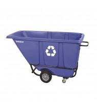 Wesco 1/2 S850BLRC 850 lb Load Poly Recycle Tilt Cart Dump Truck, Blue