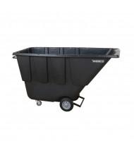 Wesco 1U850B 850 lb Load Poly Tilt Cart Dump Truck, Black
